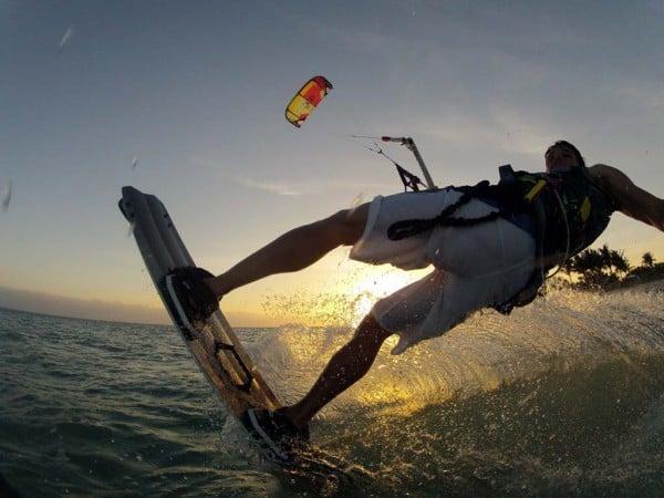 Kite-boarding at Curry Hammock State Park near Marathon