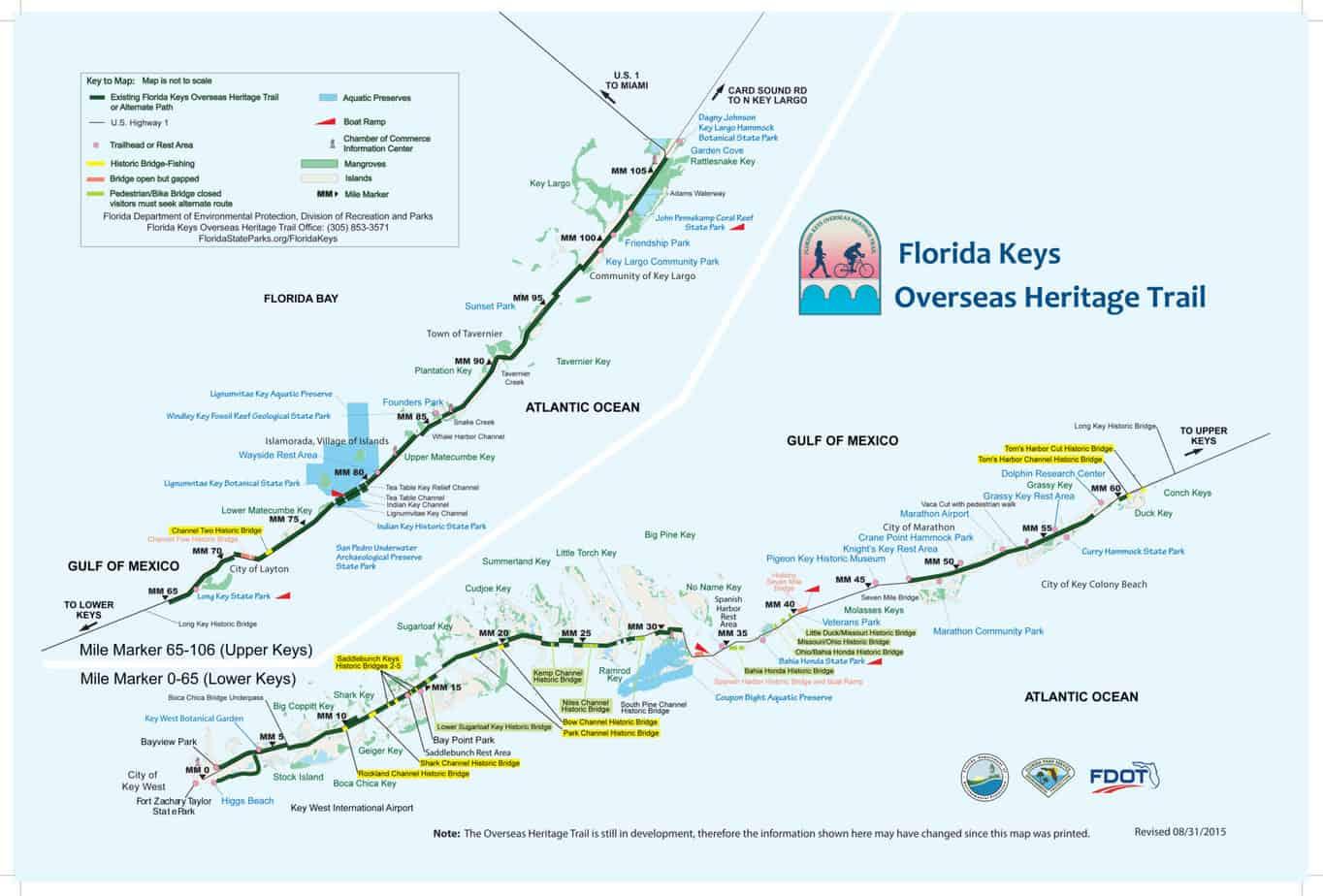 Biking The Florida Keys Overseas Heritage Trail Florida Rambler - Florida keys map pdf