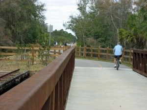 The Legacy Trail runs through Oscar Scherer State Park