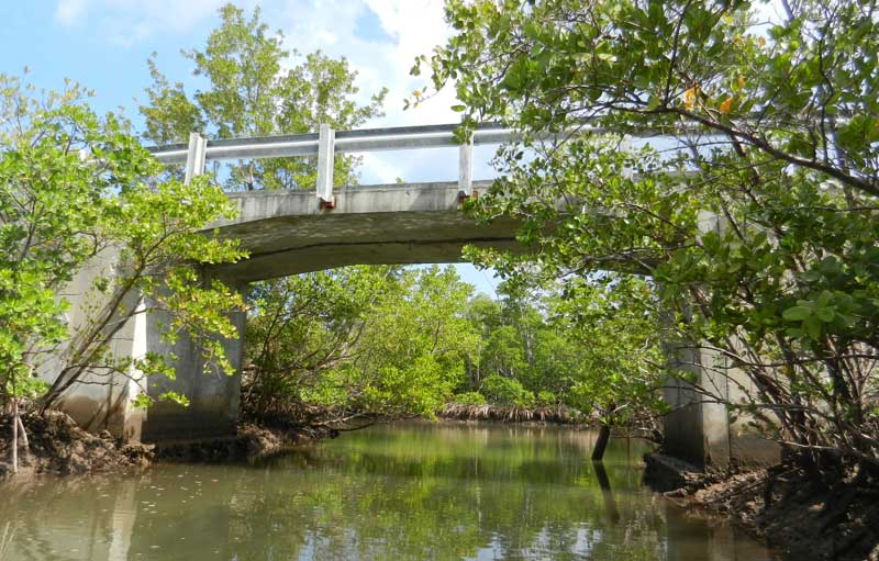 Bridge over canal at West Lake in Hollywood