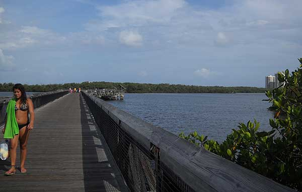 A long scenic boardwalk leads to the beach at John D MacArthur Beach State Park. (Photo: Bonnie Gross)