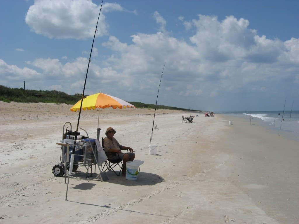 Surf fishing is popular on Apollo Beach, one of Florida's best beaches.