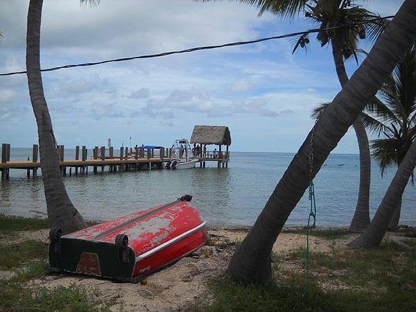 Florida Keys: The dock at Pigeon Key.