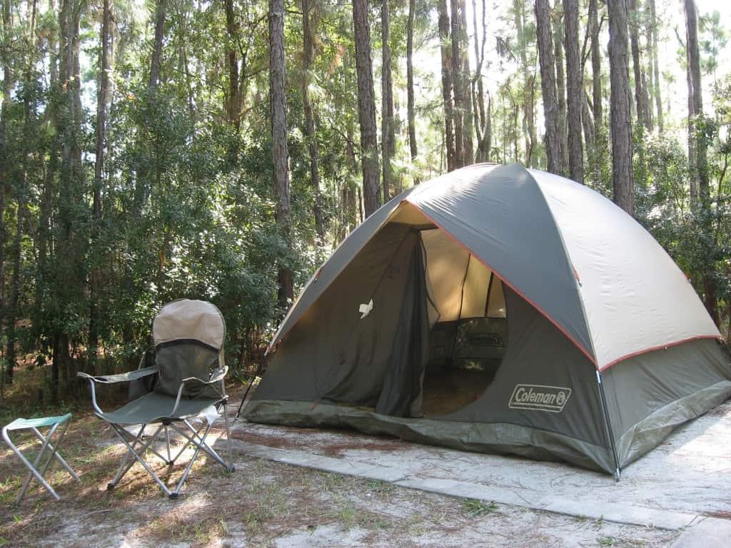 Campsite at Orange County's Moss Park