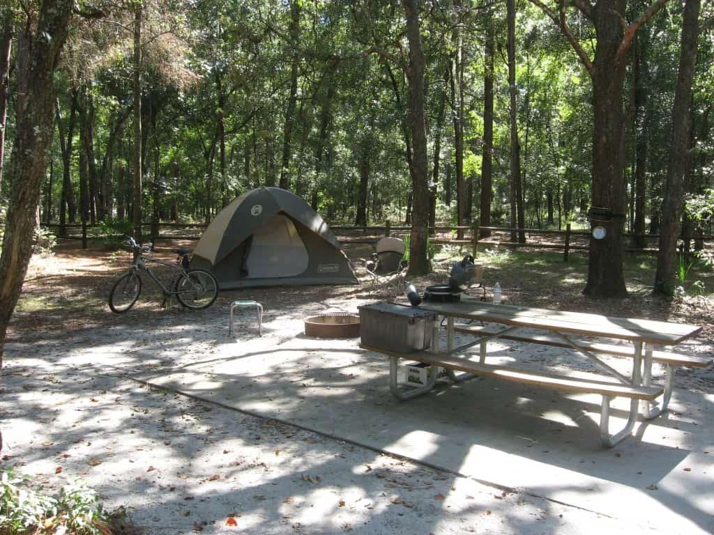 Camping at Kelly Park Rock Springs Park (Orange County)