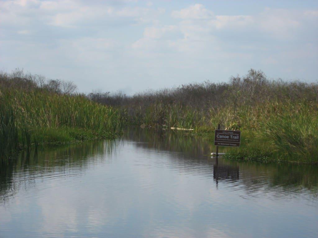 Canoe trail entrance at Loxahatchee National Wildlife Refuge