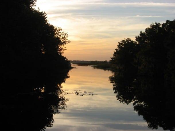 Lake Hart creek access at Moss Park