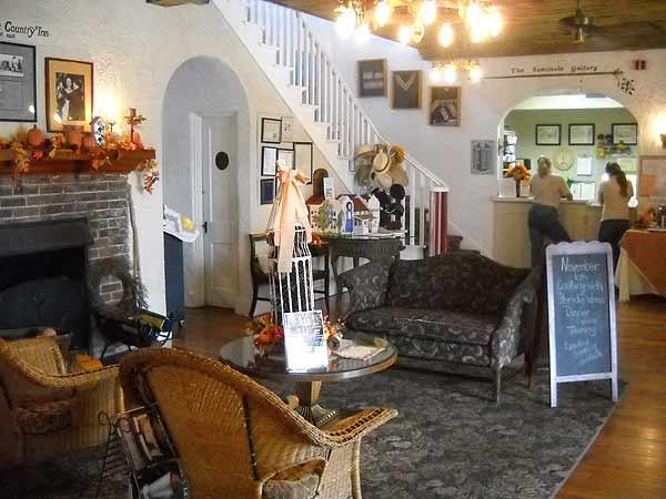 Lobby of Seminole Inn Indiantown.