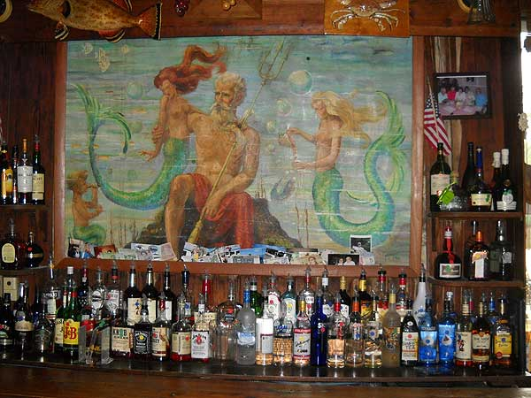 Visit Cedar Key to see the Neptune Bar at the Island Hotel