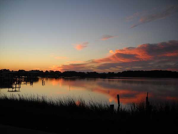 Visit Cedar Key for a Florida, sunset