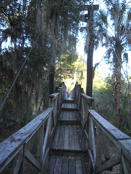 Suspension bridge at Paynes Creek Historic State Park, a few miles off the Florida Cracker Trail. (Photo: David Blasco)