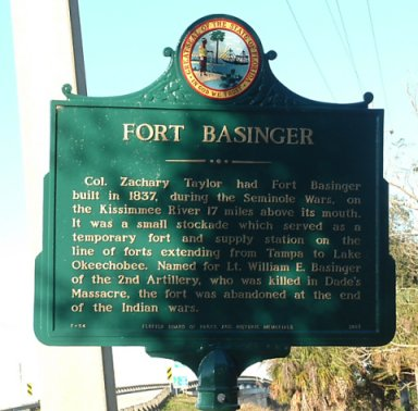 Except for the sign along the Florida Cracker Trail, Fort Basinger is gone without a trace.