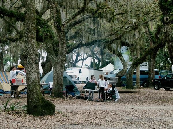 Campsites at Myakka River State Park, east of Sarasota