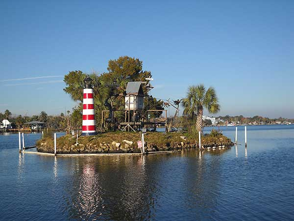 Homosassa Riverside Resort's monkey island.