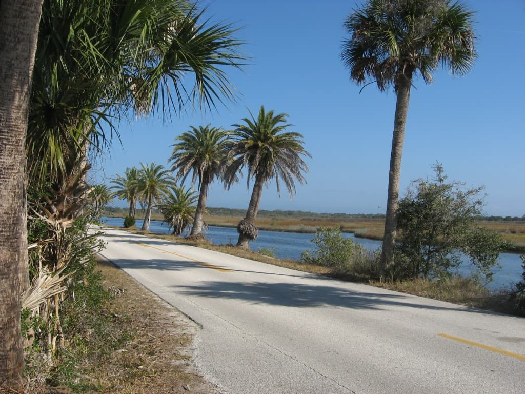 Highbridge Road on the Ormond Loop near Flagler Beach.