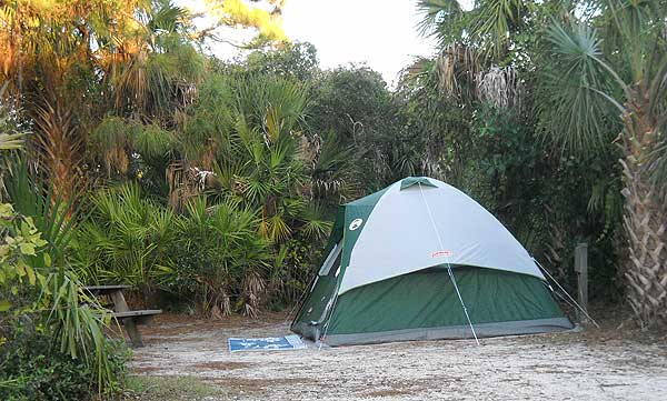 Campsite at Koreshan State Park