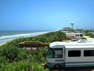 Campsites at Gamble Rogers State Recreation Area
