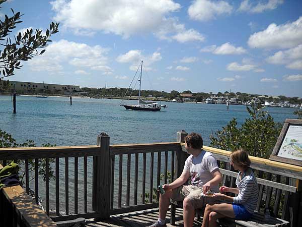 Lagoon view at Blowing Rocks, Jupiter, Florida, beach