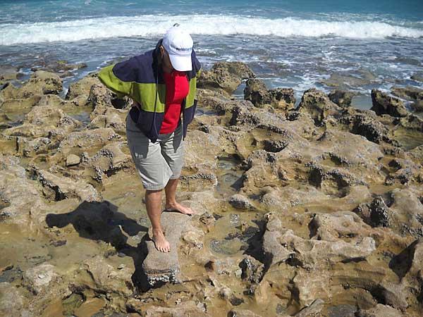 Worn rocks Blowing Rocks Preserve, Jupiter, Florida, beach