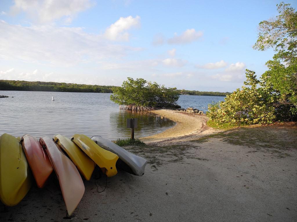 Kayak landing at Pennekamp Coral Reef State Park