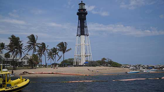 Hillsboro Lighthouse seen from Inlet