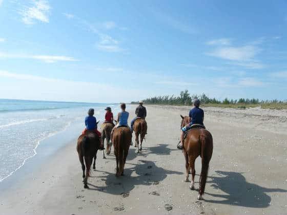 Horseback riding on the beach at Frederick Douglas Memorial Park on Hutchinson Island