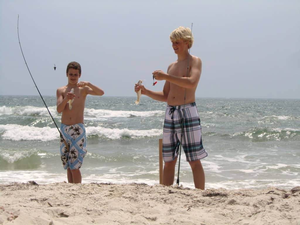 Best Florida campgrounds: Catching whiting in the surf on St. George's Island