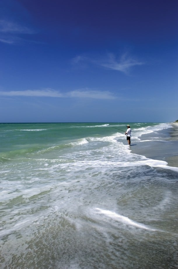 Surf fishing at Don Pedro Island State Park