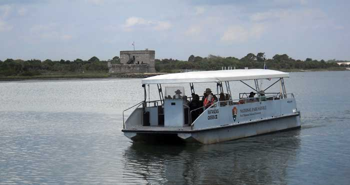 The ferry to Fort Matanzas near St. Augustine