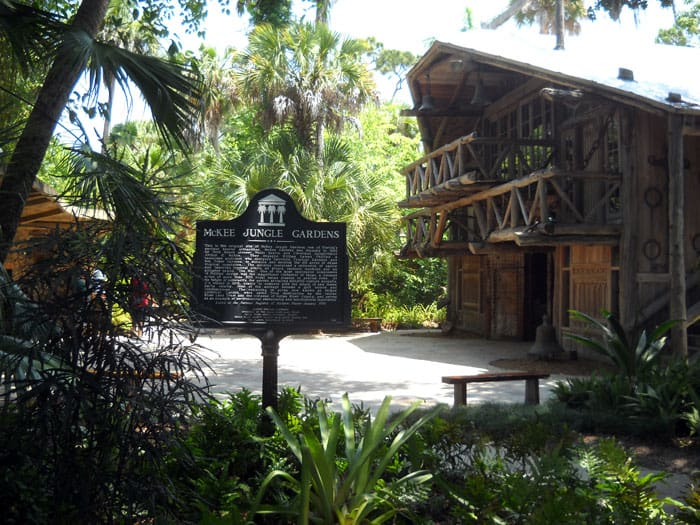 The historic buildings at McKee Botanical Gardens, Vero Beach