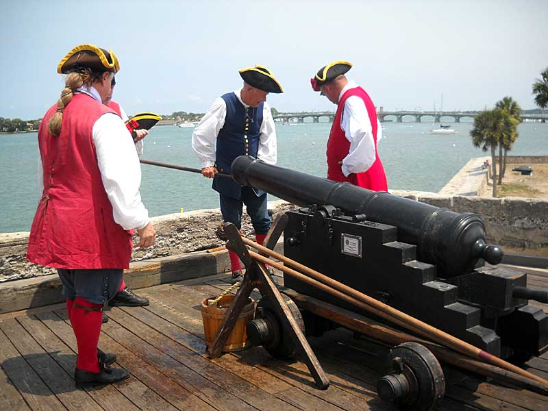 Volunteers who assist with firing the cannons at the St. Augustine fort must be in period dress. (Photo: Bonnie Gross)