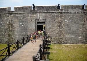 Castillo de San Marcos, St. Augustine fort entrance