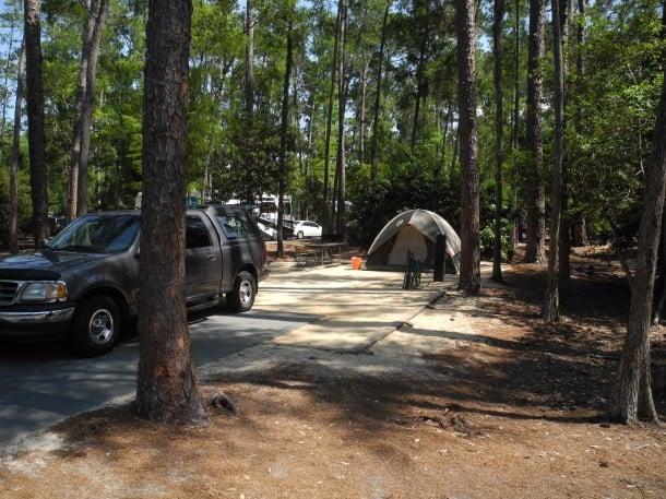 Campsite at Fort Wilderness, Disney World