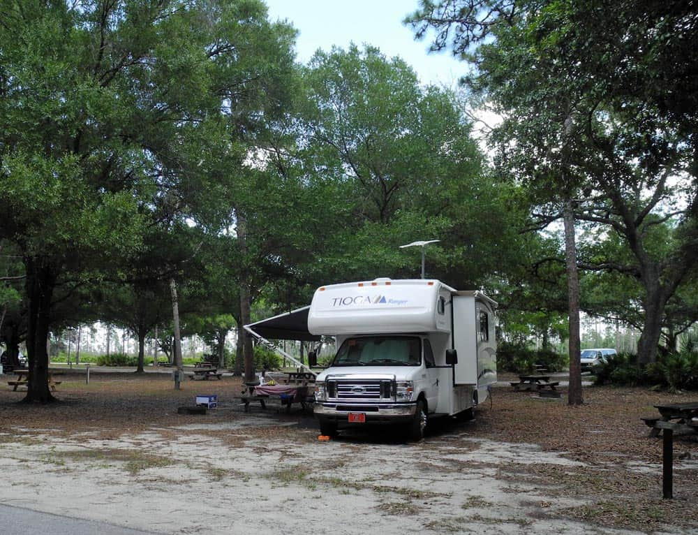 Campground at Highlands Hammock State Park