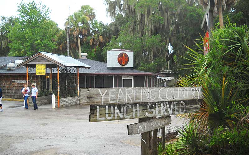 The Yearling restaurant near Marjorie Kinnan Rawlings Cross Creek home., 15 minutes from Micanopy FL.