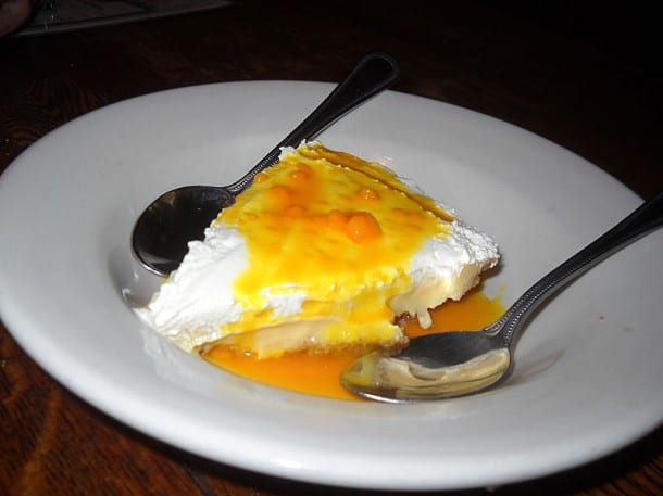 Sour Orange Pie at The Yearling restaurant in Cross Creek