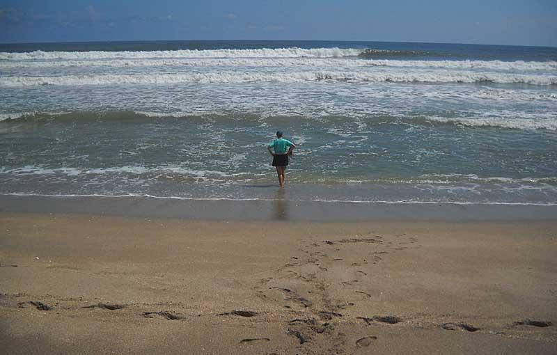 Secret beach: Hobe Sound National Wildlife Refuge swimmer