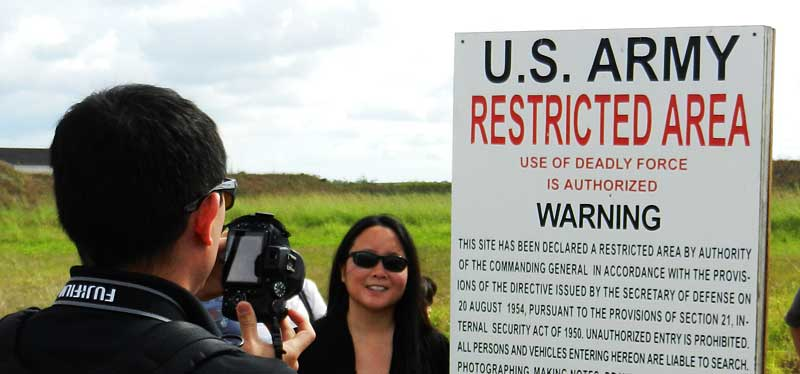 sign for display In winter, tour the historic Nike missile base in Everglades National Park