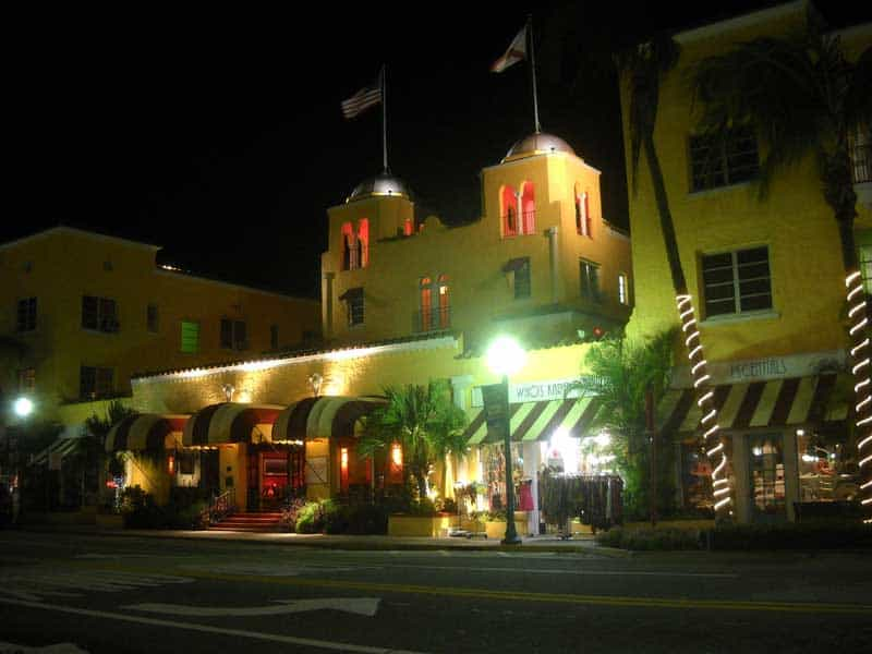 Colony Hotel on Delray Beach's Atlantic Avenue, is one of the more affordable of the historic hotels in Florida. (Photo by David Blasco)