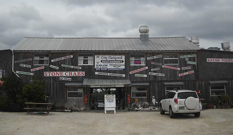 City Seafood in Everglades City: A favorite places for Florida stone crabs.