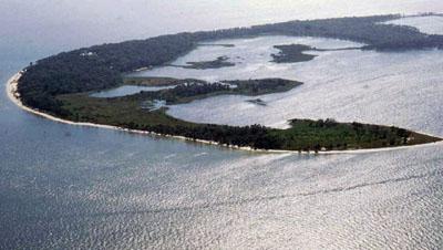 Aerial view of Seahorse Key