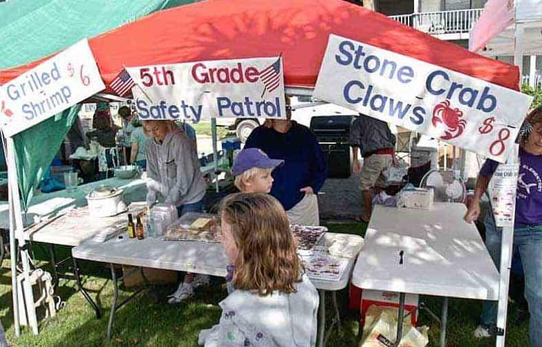 Cedar Key Seafood Festival booth