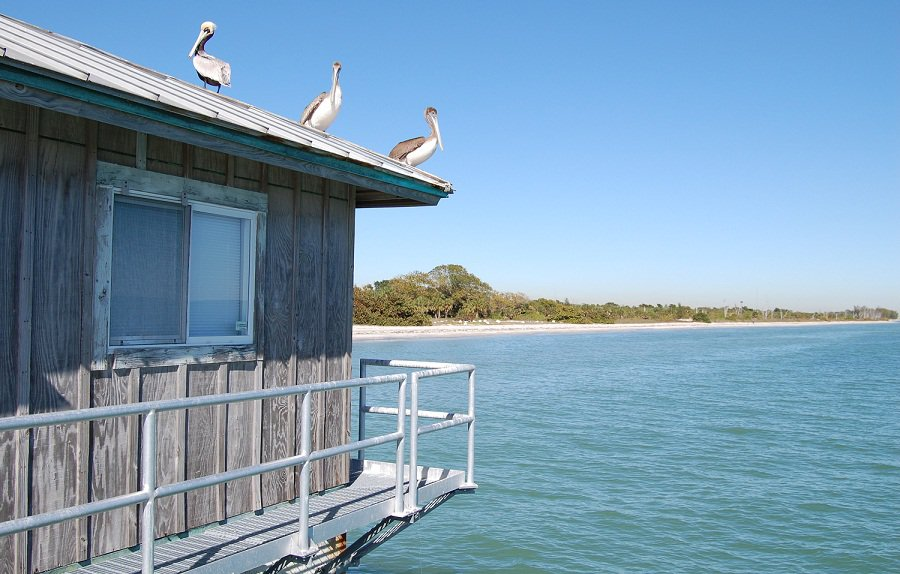 Looking at the East Beach from Bay Pier at Fort Desoto Park