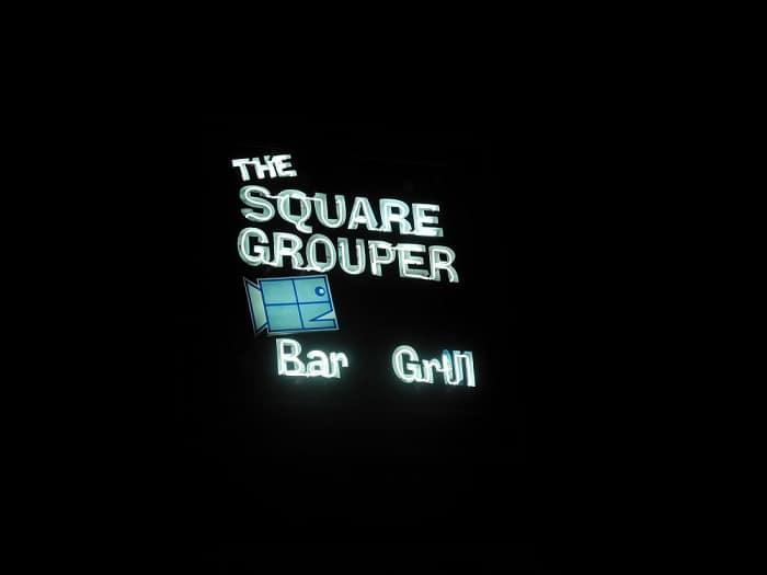The Square Grouper Bar and Grill on Cudjoe Key florida keys road food