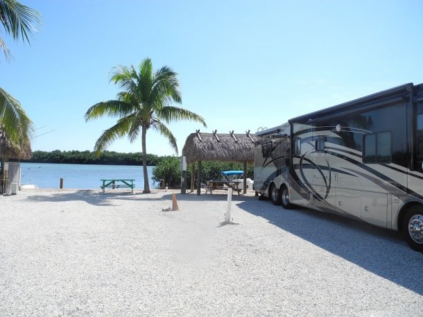Key West camping. Campsites at Geiger Key Marina and RV Park