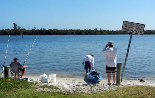 Kayak trail launch site at St. Lucie Inlet Preserve State Park