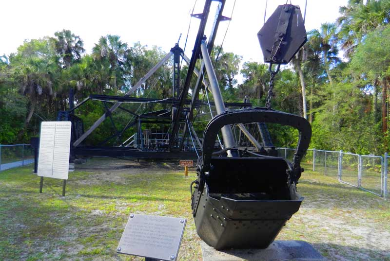 Things to do in Naples Florida: Learn the story of the Bay City Walking Dredge.  (Photo by Bonnie Gross)