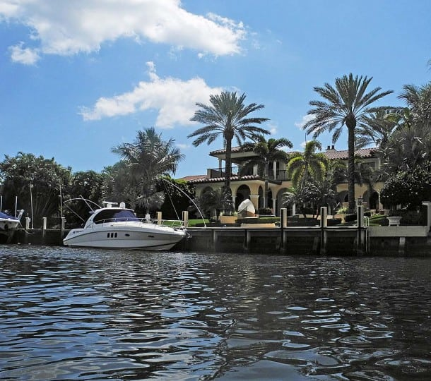 Homes of Royal Palm Yacht and Country Club are elegant, if overstated.