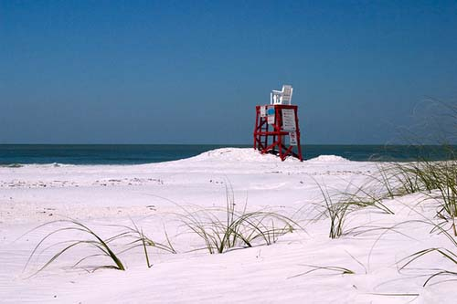 North Beach lifeguard station at Fort DeSoto