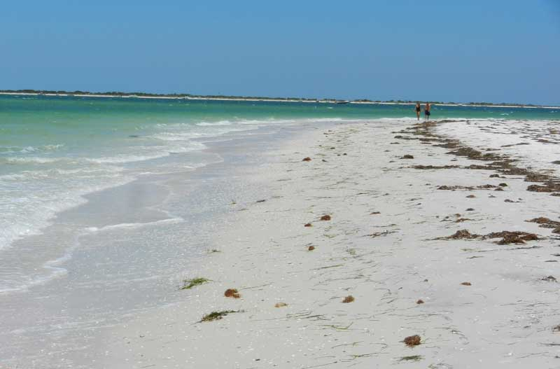 Romantic things to do in Florida: Stroll to the northern tip of Honeymoon Island is a sand spit reachable via a 3 mile walk. (Photo: Bonnie Gross)